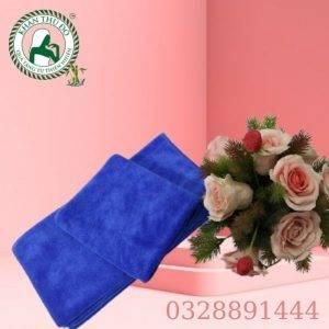Bộ khăn body spa màu xanh dương