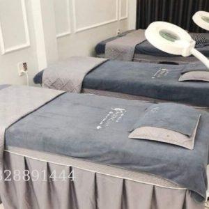 Khăn trải giường Spa màu xám