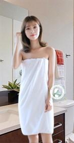 Khăn tắm cotton trắng to đẹp