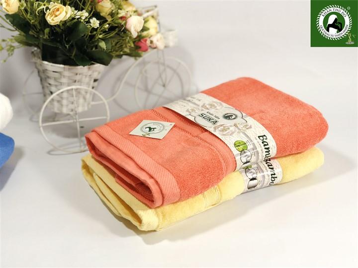 Bộ 2 khăn tắm kích thước 60x120cm chất liệu Cotton