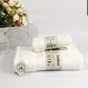 Bộ khăn tắm và khăn mặt sợi Cotton đẹp
