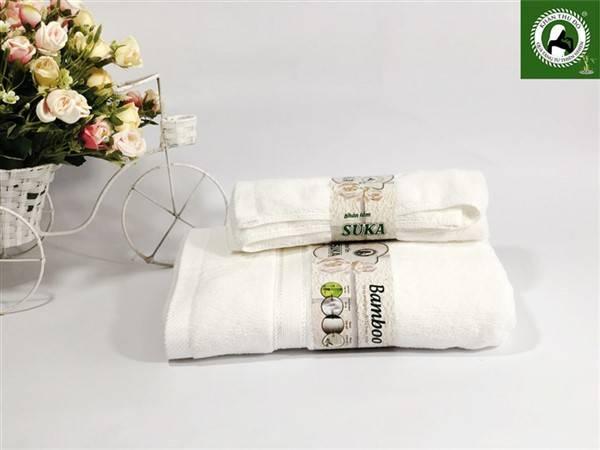 Bộ khăn tắm 100% sợi cotton nhập khẩu ấn độ cao cấp