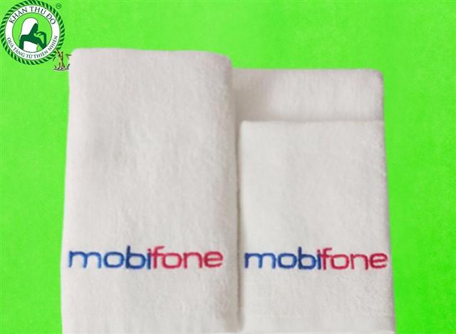 Khăn bông thêu logo Mobifone - Quà tặng khách hàng