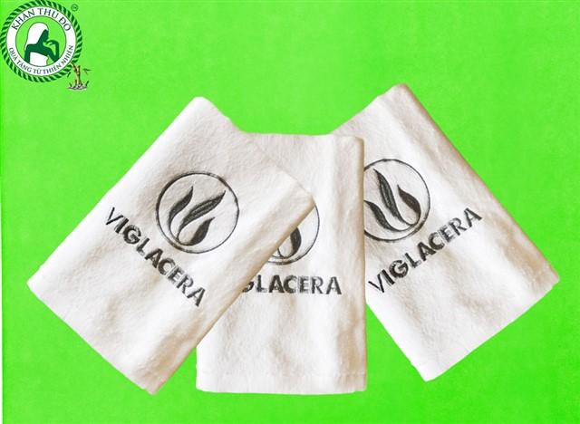 Khăn bông thêu logo Viglacera