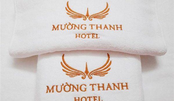 Khăn thêu logo khách sạn Mường Thanh