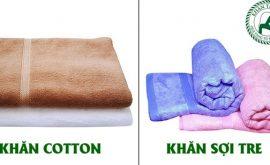 So sánh khăn sợi tre và khăn sợi Cotton