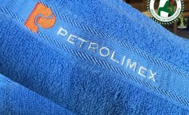 Khăn tắm thêu logo thương hiệu