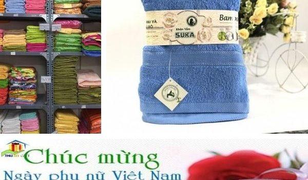 Bộ khăn quà tặng in logo -quà tặng 20 tháng 10