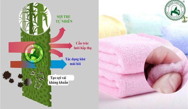 Khăn Bamboo có rất nhiều đặc tính nổi bật