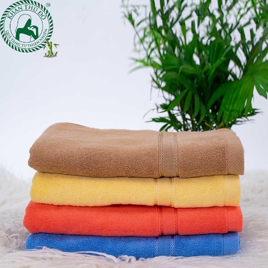 Khăn tắm 60x120cm sợi tre do khăn Thủ Đô sản xuất đang được bán với giá khuyến mại