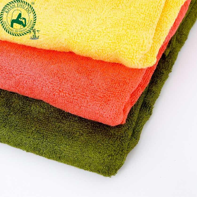 Khăn tắm sợi tre có độ mềm mịn và nhẹ