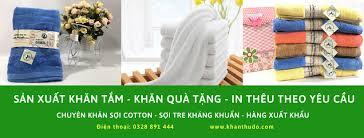 Khăn tắm thêu logo theo yêu cầu